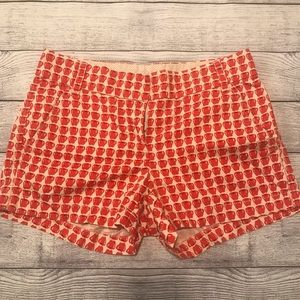 J. Crew Apple Print Shorts